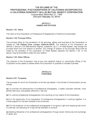 California Professional Law Corporation Bylaws Fill Out Online - Simple corporate bylaws template