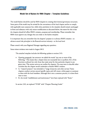 Corporate bylaws template free fill out online forms templates model set of bylaws for rma chapter template guidelines pronofoot35fo Image collections