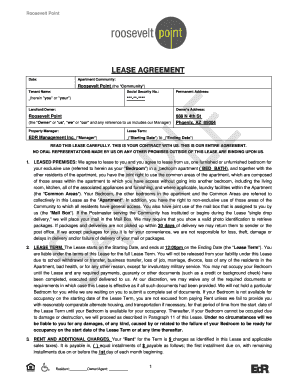 Fillable Arizona Rental Lease Agreement Form Edit Online