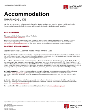 Printable Share Housing Agreement Nsw Edit Fill Out