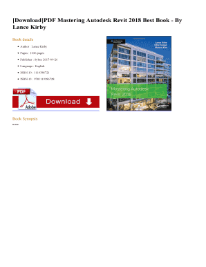 DownloadPDF Mastering Autodesk Revit 2018 Best Book - By Fill Online