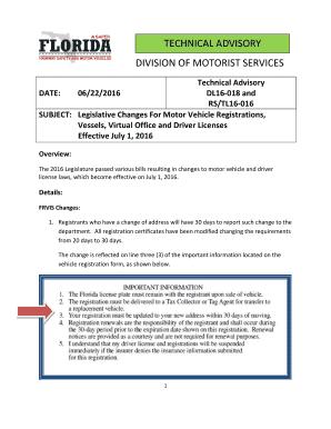 Florida vessel registration renewal fill out print for Motor vehicle registration florida