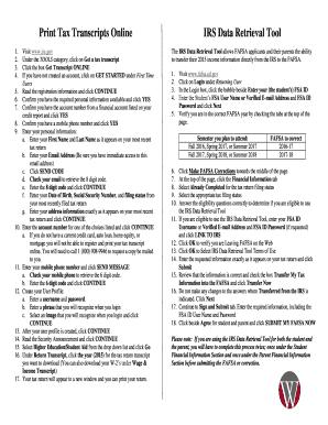 Fillable tax transcript online - Edit Online, Print