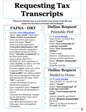 Get Tax Transcript Online
