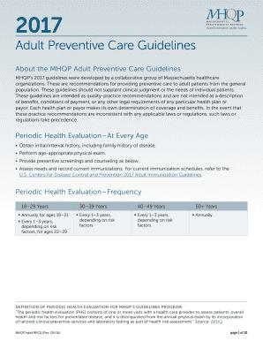 Adult preventive care