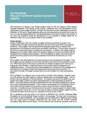 Fillable project proposal budget sample - Edit, Print & Download