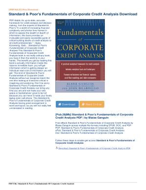 standard poors fundamentals of corporate credit analysis