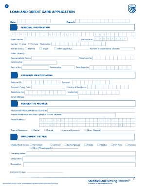 loan and credit card application fill online printable fillable