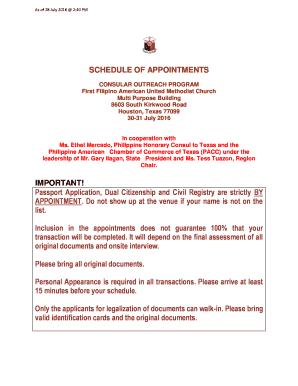 philippine consulate texas - Edit Online, Fill, Print