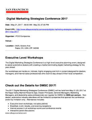 Com/events/digital Marketing Strategies Conference2017 May 2017