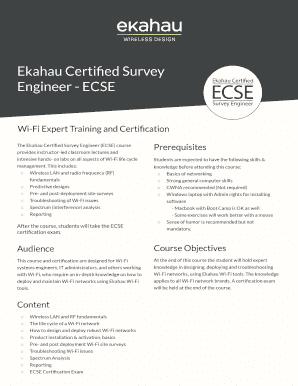Editable ekahau - Fillable & Printable Online Forms to