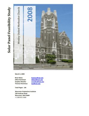 feasibility study template xls - Edit, Fill, Print & Download Online