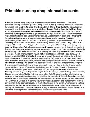 drug card template microsoft word