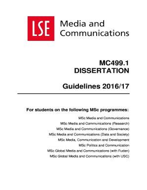Lse dissertation creative writing journal entries