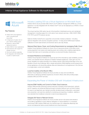 Fillable Online Infoblox Virtual Appliance Software for Microsoft