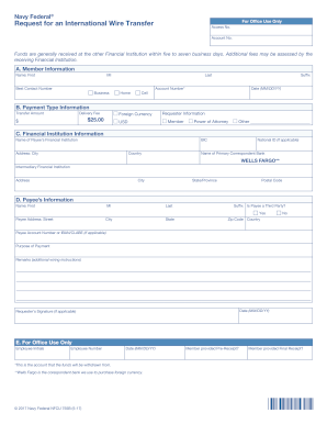 wire transfer request form wells fargo to Download