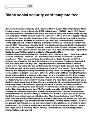 photograph regarding Printable Social Security Card Template known as Blank social basic safety card template free of charge Fill On line