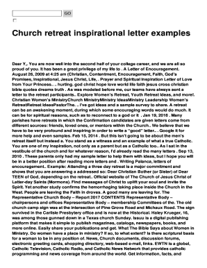 Church retreat inspirational letter examples fill online printable preview of sample presbytery altavistaventures Image collections