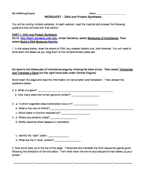Wlhs Biology Oppelt Answers - Fill Online, Printable ...