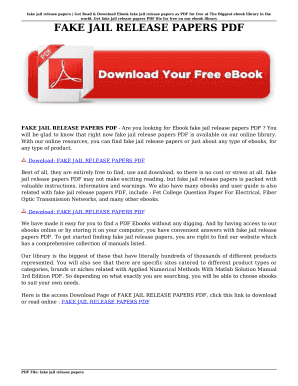 Fake jail release papers get read amp download ebook fake jail categories fandeluxe Image collections