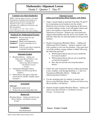 blackline master grade 5 wake county - Edit Online, Fill