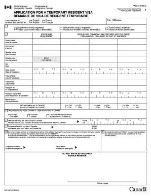 Imm 5257 Canada - Fill Online, Printable, Fillable, Blank   PDFfiller