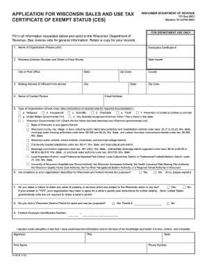 Wi Sales Tax Exemption Form - Fill Online, Printable, Fillable ...