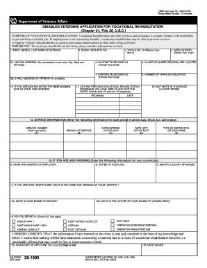 Fillable Online VA 28-1900 Veterans' application for ...