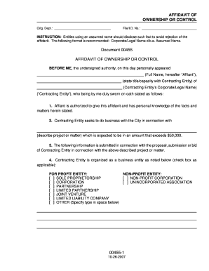 Affidavit Of Ownership Forms and Templates - Fillable & Printable ...