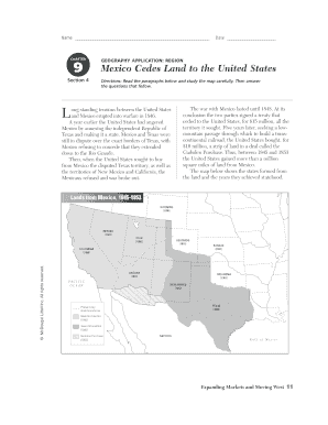 Mexico Cedes Land To The United States