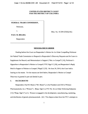 motion to compel discovery federal court fillable form document