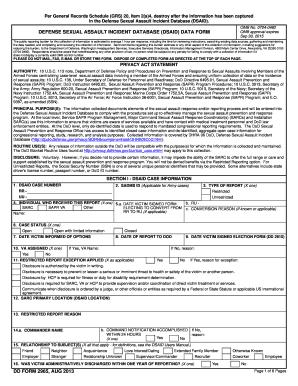 Dsaid Form - Fill Online, Printable, Fillable, Blank | PDFfiller