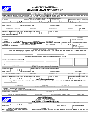 Sss Member Loan Application Form Sample - Fill Online, Printable ...