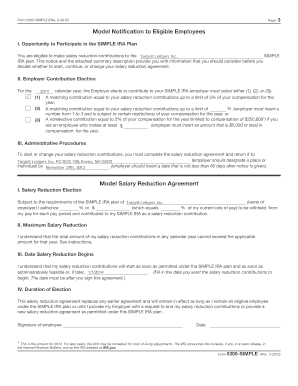 Fillable Online Targett Ledgers Form 5305 SIMPLE Fax Email Print ...