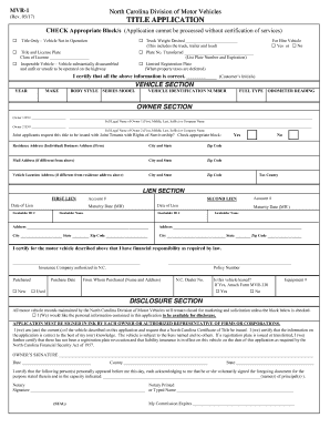 Mvr 1 fill online printable fillable blank pdffiller for Motor vehicle lien search