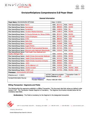 Envision Rx Companion Guide - Fill Online, Printable