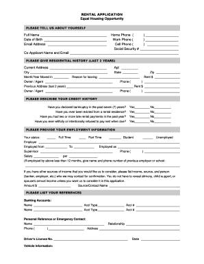 rental application word document