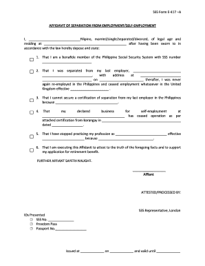 Affidavit Of Separation - Fill Online, Printable, Fillable