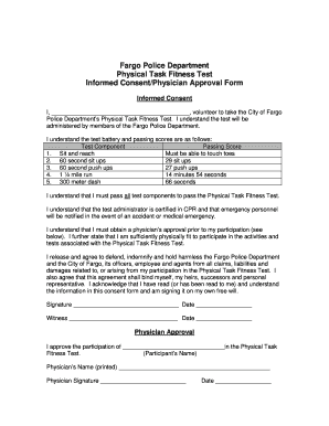 Fitness Testing Consent Form - Fill Online, Printable, Fillable ...