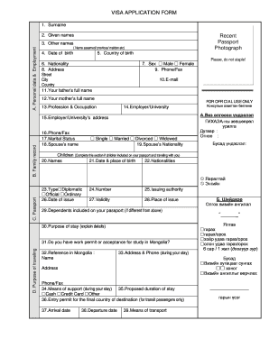 spouse visa application form