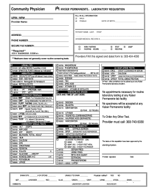 Lab Requisition Form - Fill Online, Printable, Fillable, Blank ...