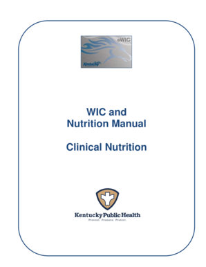 WIC and Nutrition Manual Clinical Nutrition - chfs ky