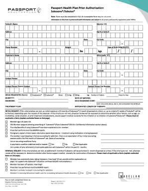 Passport Prior Authorization General Form - Fill Online, Printable ...