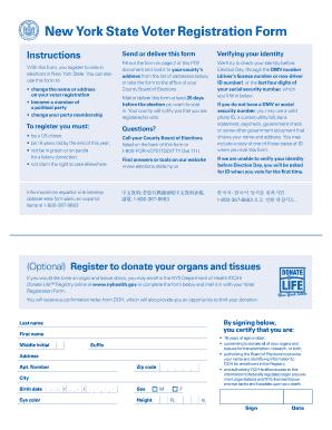 Bill Of Sale Form New York State Voter Registration Form Templates ...