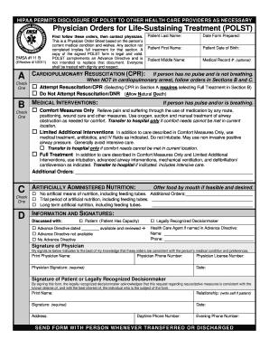 Polst Form Templates - Fillable & Printable Samples for PDF, Word ...
