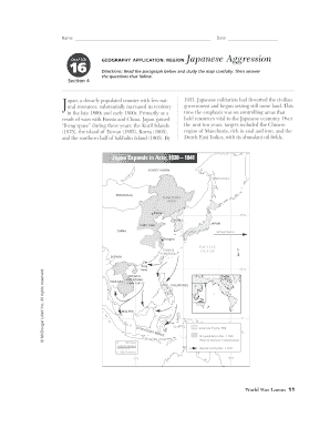 Chapter 16 Section 4 Geography Application Region Japanese