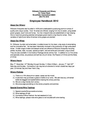 Employee Handbook Sample Pdf Forms And Templates Fillable - Employee handbook template pdf