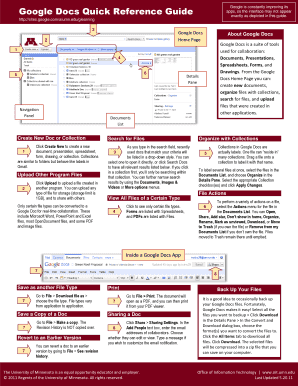 google docs quick reference guide technologytalk