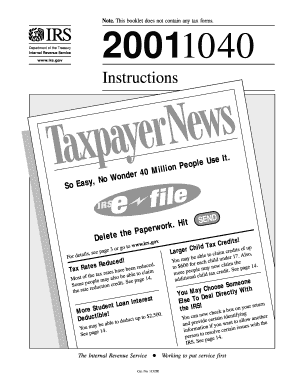 IRS Form 1040 Instruction Booklet - Family Guardian - famguardian