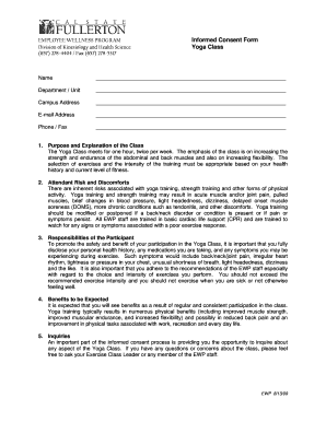 Online Fillable Waiver Consent Form Yoga Fill Online Printable Fillable Blank Pdffiller